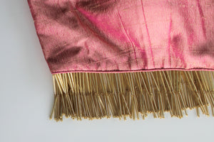 Raw Silk Pink Fringe