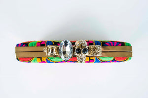 Diamonds and Skulls Clutch