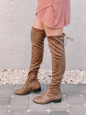 RACHEL OVER THE KNEE BOOT- TAUPE