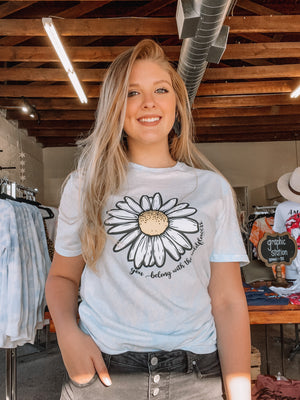 YOU BELONG WITH THE WILDFLOWERS GRAPHIC TEE