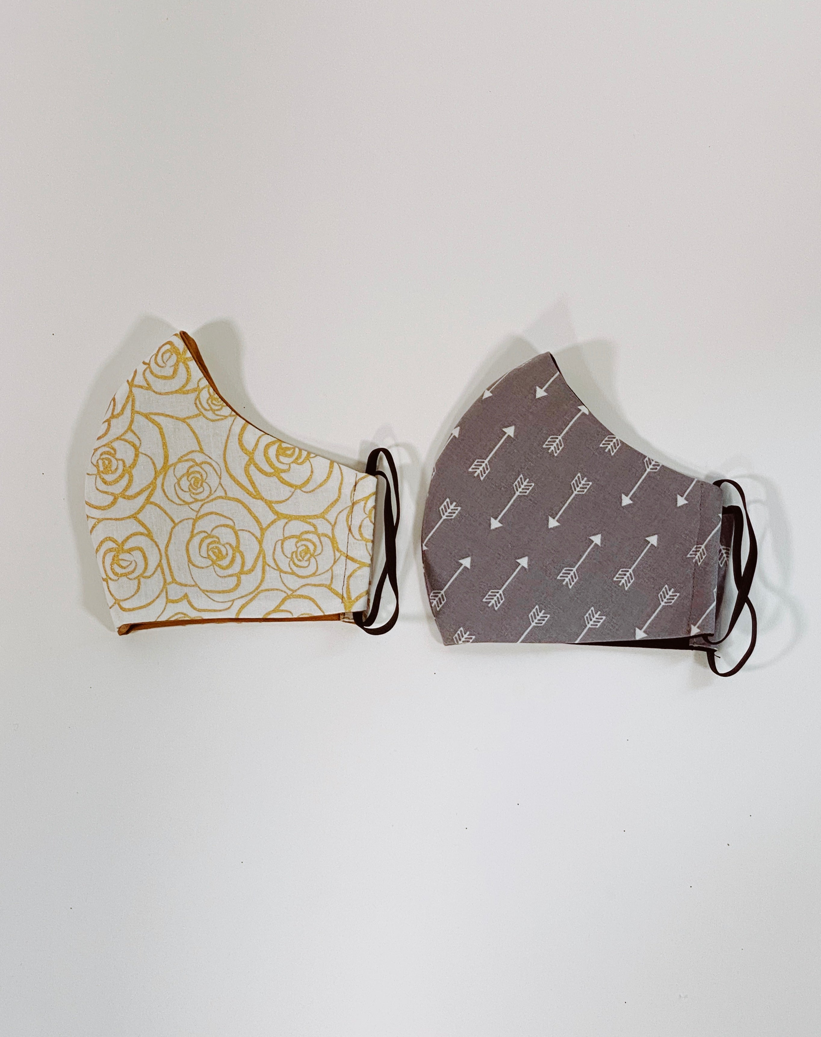 Printed Re-useable Face Masks - Set of 2