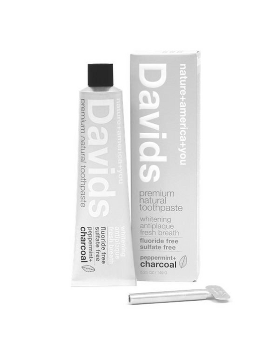 David's Natural Peppermint & Charcoal Toothpaste