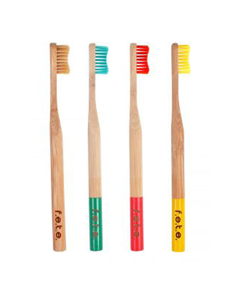 Natural Bamboo Toothbrush - Soft Bristle 4 pack
