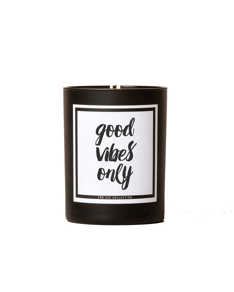 Good Vibes Only Soy Candle | Spiced Bergamot |