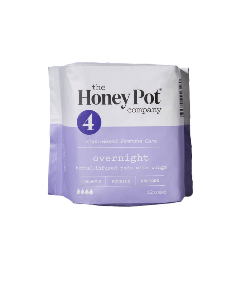 Overnight Herbal Pads With Wings - 12 Pack