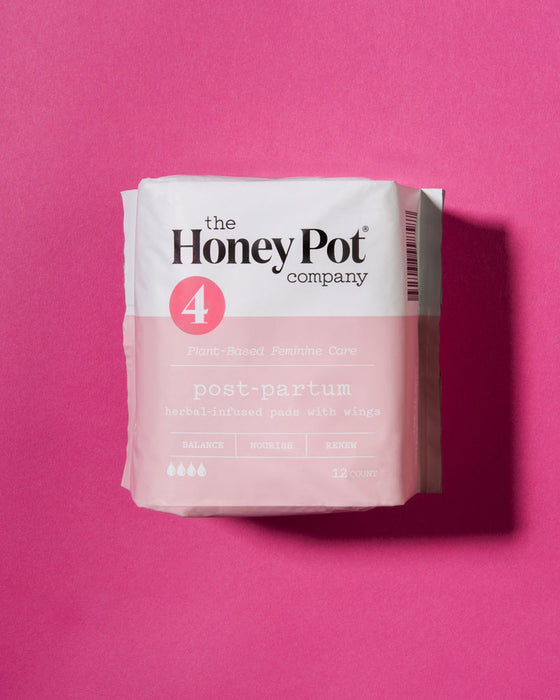 Postpartum Herbal Wipes With Wings - 12 Pack