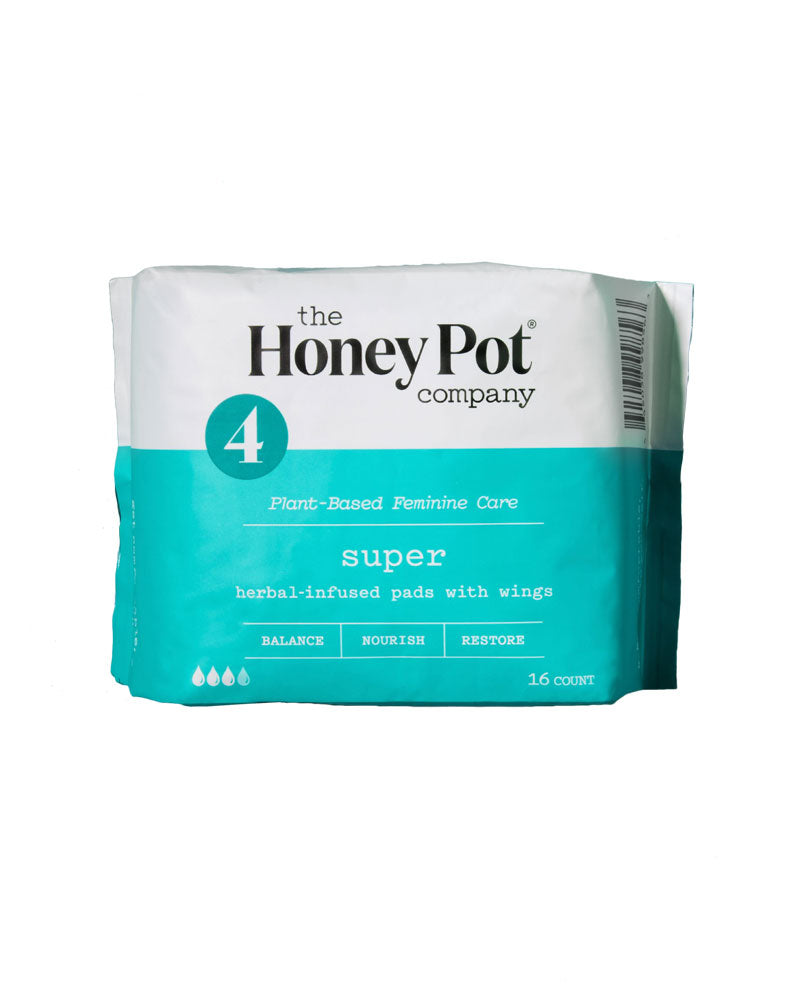 Super Herbal Pads With Wings - 16 Pack