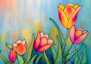 Stained Glass Tulips