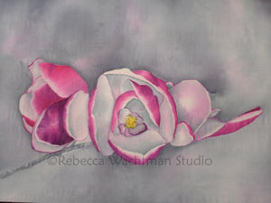 Magnolias In the Mist - Original Silk Painting