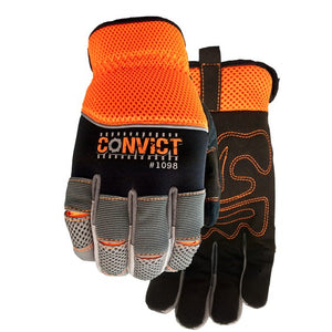"<font color=""red""><b>Clearance </b></font>Watson Gloves 1098 Convict ""Jail Break"" Hi-Vis Work Gloves"