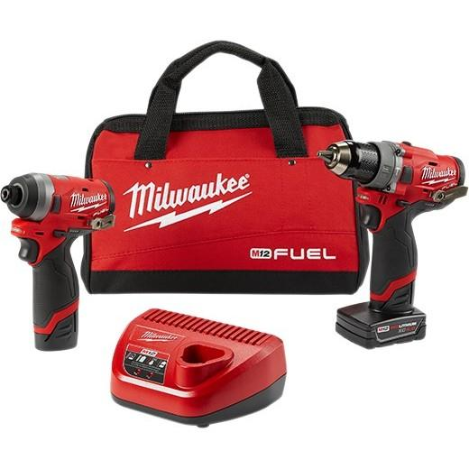 Milwaukee 2598-22 M12 FUEL 2-Tool Combo Kit: 1/2