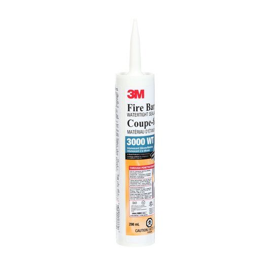 3M 3000 WT Grey Fire Barrier Water Tight Sealant - 10 oz