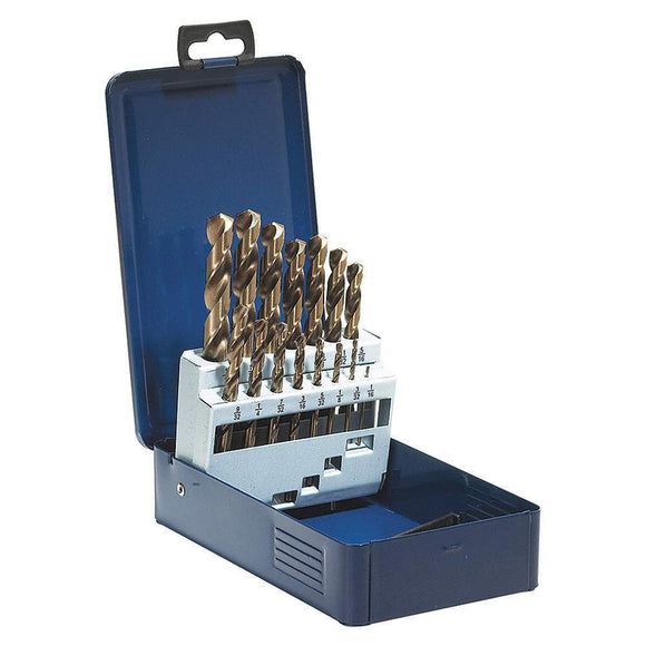 Drill Bit Set - SST+ High Speed Steel 15 Piece Jobber Drill Bit Set