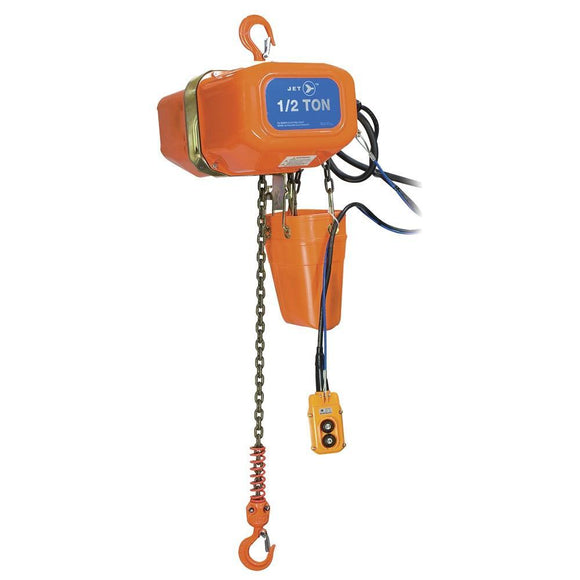 1 Ton 15' Lift 230/460V 3PH Electric Chain Hoist - Heavy Duty (107213)