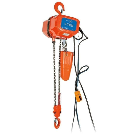 2 Ton 15' Lift 115/230V 1PH Electric Chain Hoist - Heavy Duty (107204)
