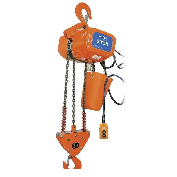 3 Ton 15' Lift 115/230V 1PH Electric Chain Hoist - Heavy Duty (107205)