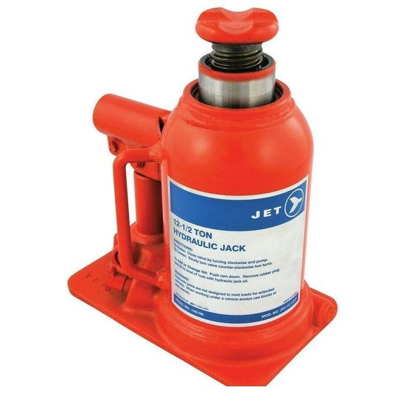 12-1/2 Ton JET Hydraulic Bottle Jack - Low Profile - Super Heavy Duty