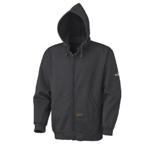 Flame Resistant Zip Style Heavyweight Cotton Hoodie - Black (337)
