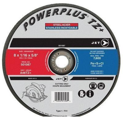 8 x 1/16 x 5/8 A46PX POWER-XTREME T1 Cut-Off Wheel (501087)