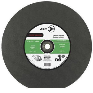 Jet C24R POWER ABRASIVE T1 Cut-Off Wheels for Gas Saws