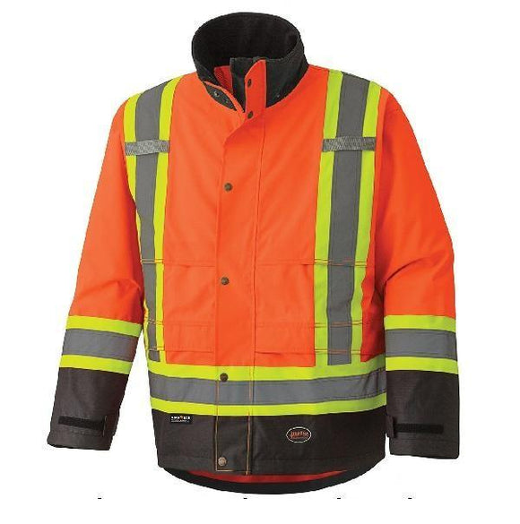 300D Hi-Viz Ripstop Waterproof Safety Jacket - Orange (5400)