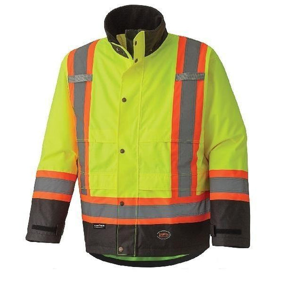 300D Hi-Viz Ripstop Waterproof Safety Jacket - Yellow (5401)