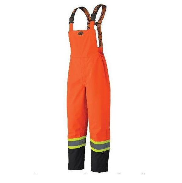 300D Hi-Viz Ripstop Waterproof Safety Bib Pant - Orange (5404)