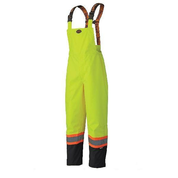300D Hi-Viz Ripstop Waterproof Safety Bib Pant - Yellow (5405)