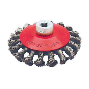 "4-1/2"" x 5/8""-11 NC Knot Twisted Conical Brush (554309)"