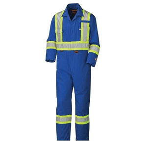 Flame Resistant Cotton Safety Coverall - Royal Blue (5558A)