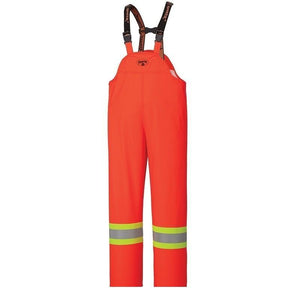 Flame Resistant PU Stretch Hi-Viz Waterproof Bib Pant - Orange (5893)