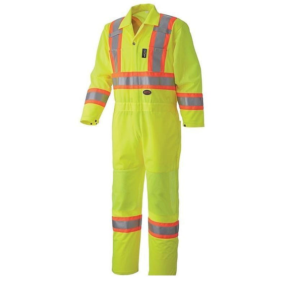 Hi-Viz Traffic Safety Coverall - Yellow (5999A)