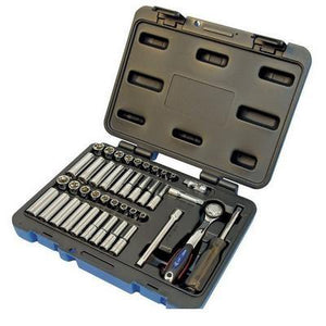 "42 Piece 1/4"" Drive S.A.E./Metric Socket Wrench Set - 6 Point (600125)"