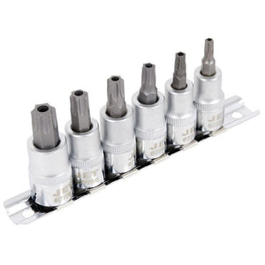 6 Piece Tamperproof TORX Bit Socket Set (601216)