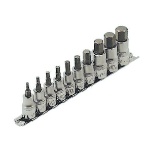 "10 Piece 3/8"" and 1/2"" Drive S.A.E. Hex Bit Socket Set (601802)"