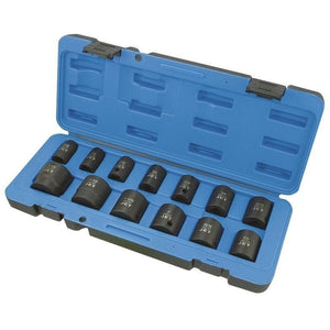 "13 Piece 1/2"" Drive S.A.E. Impact Socket Set - 6 Point (610321)"