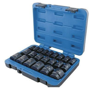 "22 Piece 1/2"" Drive Metric Impact Socket Set - 6 Point (610338)"