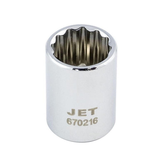 12 Point Regular Chrome Socket - Metric