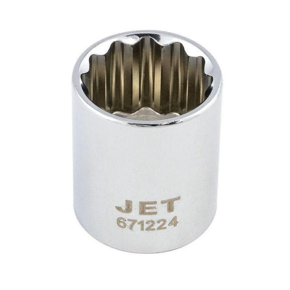 12 Point Regular Chrome Socket - 3/8
