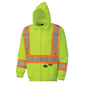 Hi-Viz Polyester Fleece Hoodie - Yellow (6925)