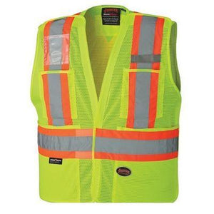 Hi-Viz Safety Tear-Away Vest - Yellow (6933)