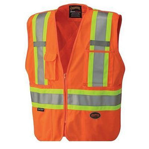 Hi-Viz Safety Tear-Away Mesh Back Vest - Orange (6935)