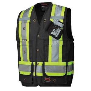CSA Surveyor's / Supervisor's Vest - Black (694BK)