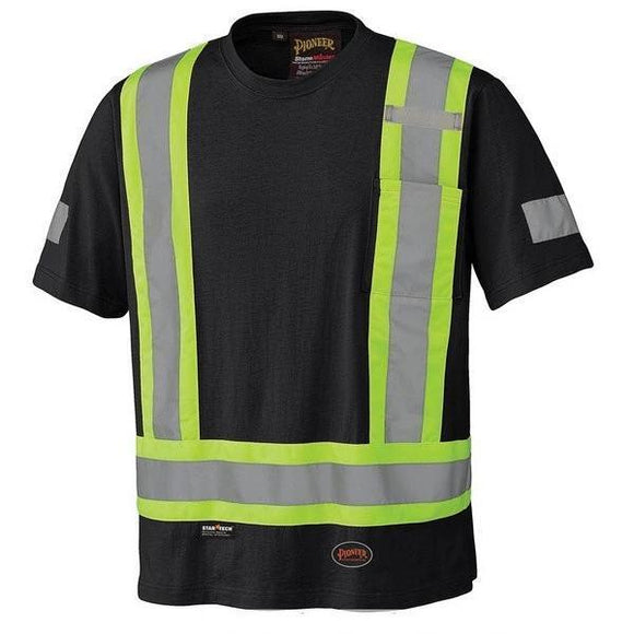 Black Cotton Safety T-Shirt