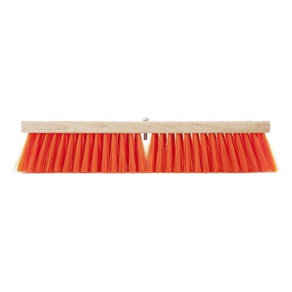 Synthetic Medium Sweep Safety Orange Push Broom (Head Only)