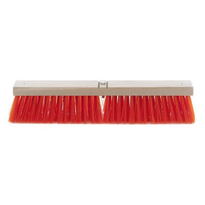 Synthetic Coarse Sweep Safety Orange Push Broom (Head Only)
