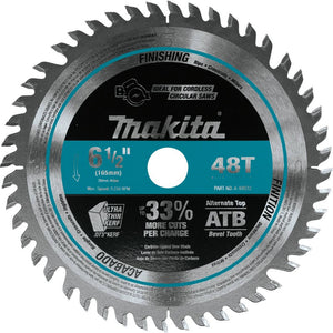 "Makita 6-1/2"" 48T Carbide-Tipped Cordless Plunge Saw Blade A-99932"