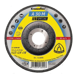 "5"" - 1/4"" - 7/8"" A 30 M Special grinding discs for Stainless steel"