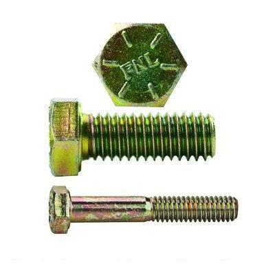 Hex Head Bolt Coarse Thread Grade 8 Yellow Zinc Plated