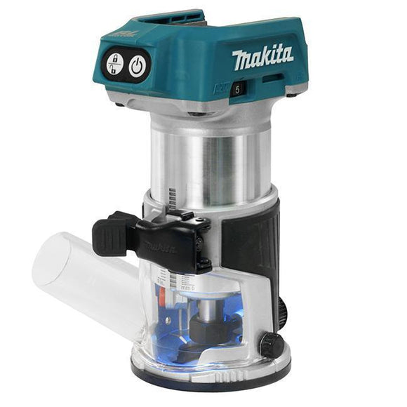 Cordless Compact Router with Brushless Motor (Makita DRT50ZX4)